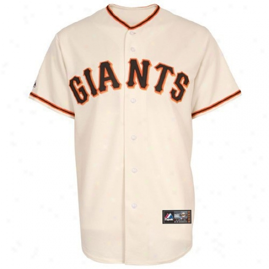 San Francisco Giants Jersey : Majestic San Francisco Giants Youth Natural Replica Baseball Jersey