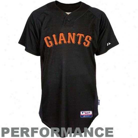 San Francisco Giants Jerseys : Majestic San Francisco Giants Black Batting Custom Performance Replica Baseball Jerseys
