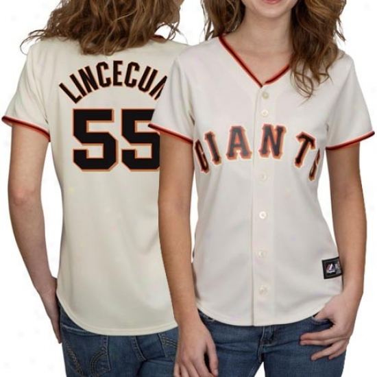 San Francisco Giants Jerseys : Majestic San Francisco Giants #55 Tim Lincecum Ladies White Replica Baseball Jersesy