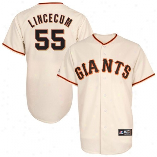 San Francisco Giants Jerseys : Majestic San Francisco Giants #55 Tim Lincecum Cream Replica Baseball Jerseys
