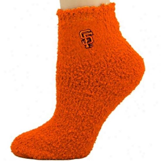 San Francisco Giants Ladies Orange Sleepsoft Ankle Socks