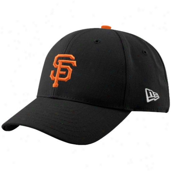 San Francisco Giants Commodities: New Era San Francisco Giants Black Pinch Hitter Adjustable Hat