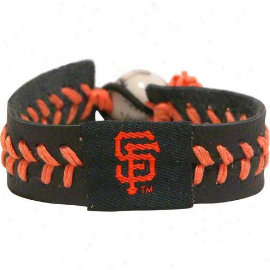San Francisco Giants Navy Blue Baseball Bracelet