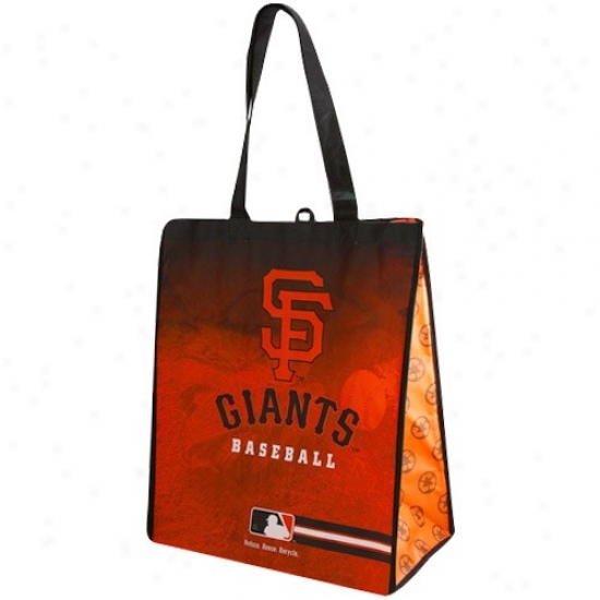 San Francisco Giants Orange-black Fade Reusable Tote Bag
