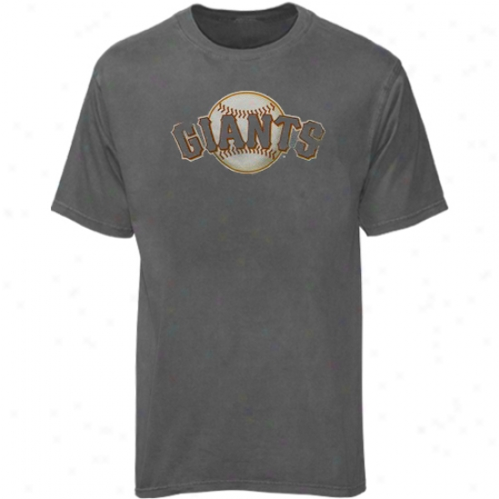 San Francisco Giants T-shirt : Majestic San Francisco Giants Heather Gray Bkg Time Play T-shirt