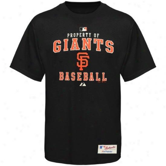 San Francisco Giants Tshirt : Majestic San Francisvo Giants Black Property Of Tshirt