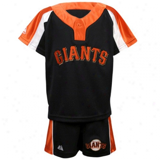 San Francisco Giants Tshirts : Majestic San Francisco Giants Toddler Black Batting Practice Jersey & Shorts Set