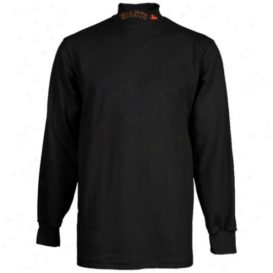 San Francisco Giants Tshirts : Majestic San Francisco Giants Black Mlb Long Sleeve False Turtleneck