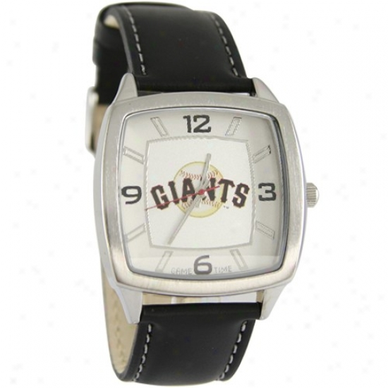 San Francisco Giants Watches : San Francisco Giants Retro Watched W/ Leather Band