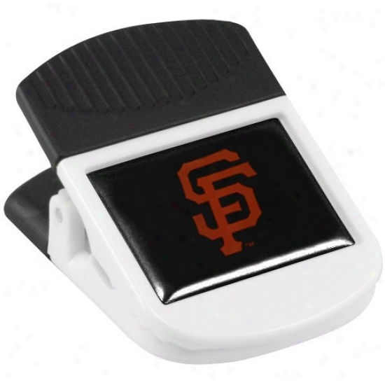 San Francisco Giants White Magnnetic Chip Clip