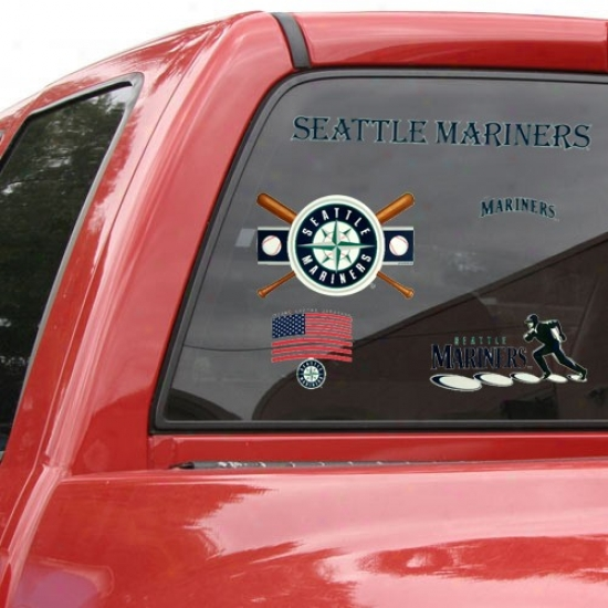 Seattle Mariners 11'' X 17'' Window Clings Sheet