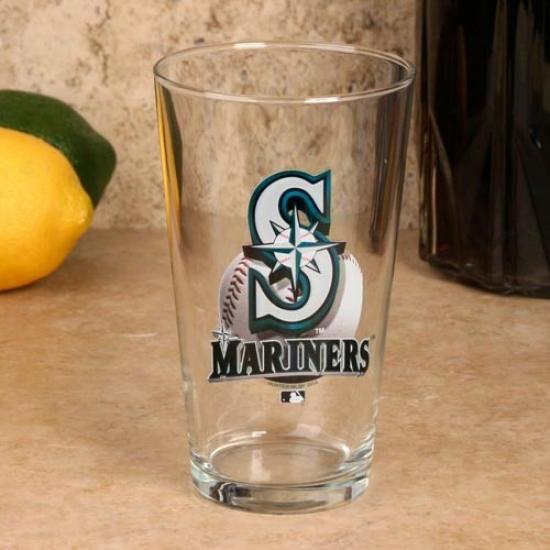 Seattle Mariners 17 Oz. Enhanced Hi-def Mixing Glass
