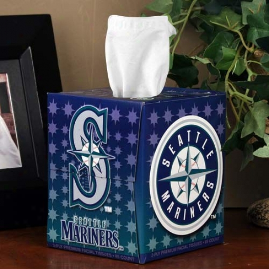 Seattle Mariners Box Of Sports Tissues