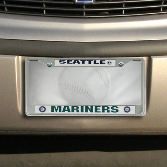 Seattle Mariners Chrome License Plate Fraje