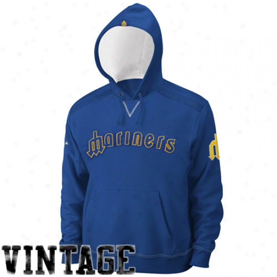 Seattle Mariners Fleece : Majestic Seattle Mariners Royal Blue Conquest Fleece