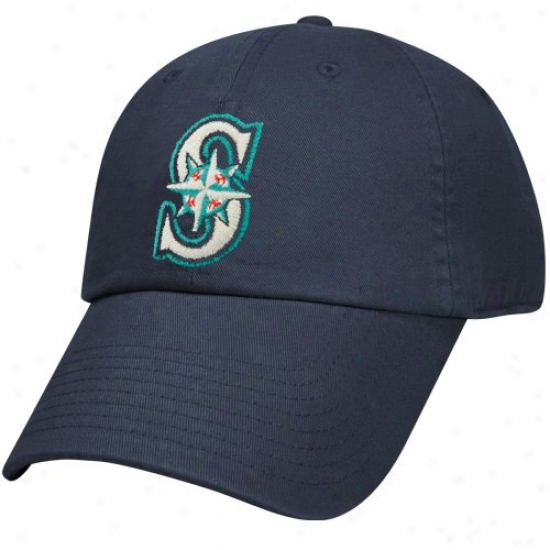 Seattle Mariners Hats : Nike Seattle Mariners Navy Blue Relaxed Adjustable Hats