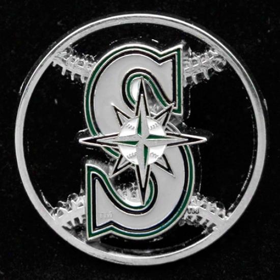 Seattle Mariners Hats : Seattle Mzriners Team Logo Cut-out Baseball Pin