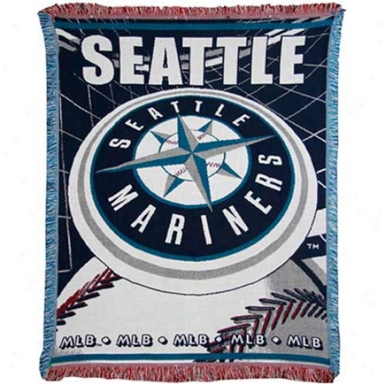 Seattle Mariners Jacquard Woven Blanket Throw