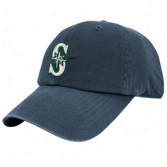 Seattle Mariners Merchandlse: Twins Enterprise Seattle Mariners Navy Blue Franchise Fitted Hat