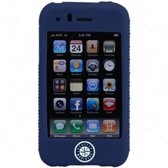 Seattle Marinerq Navy Blue Mlb Silicond Iphone Cover