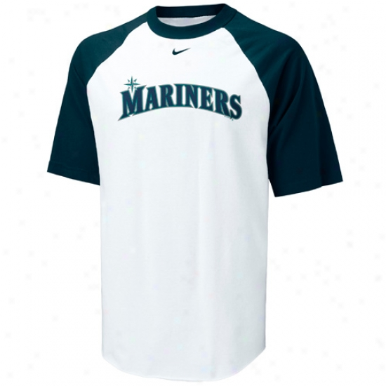 Seattle Mariners Shirts : Nike Seattle Mariners White Rollin Mlb Raglan Shirts