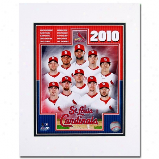 St. Louis Cardinals 11'' X 14'' 2010 Matted Team Compounded Photograph