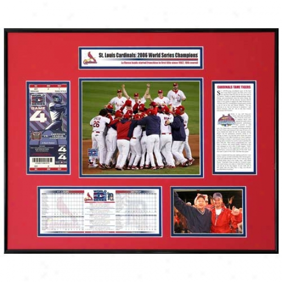 St Louis Cardinals 206 World Series Champions Team Celebration Ticket Frame