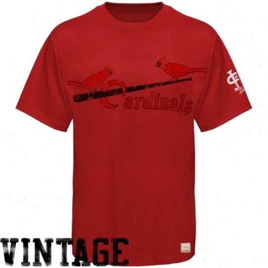 St. Louis Cardinals Apparel: Majestic Select St. Louis Cardinals Red Vintage Paramount Premium T-shirt