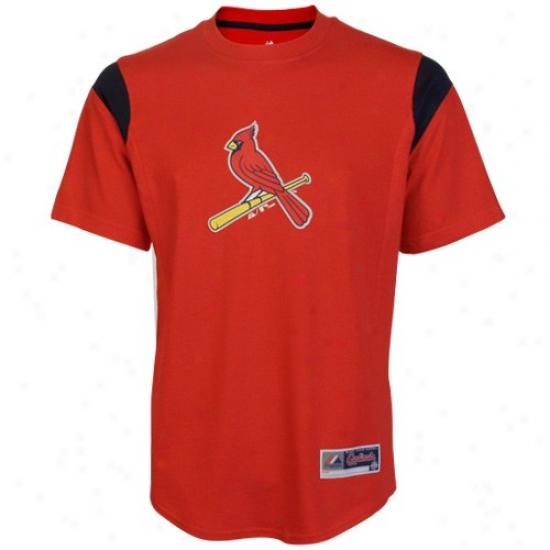 St. Louis Cardinals Attire: Majestic St Louis Cardinals Red Team Phenom Fashion T-shirt