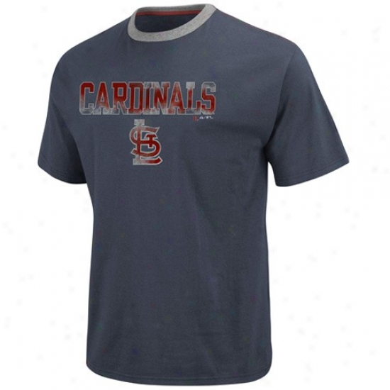 St. Louis Cardinals Attire: Majestic St. Louis Catdinals Navy Blue The Highlight Fashion T-shirt