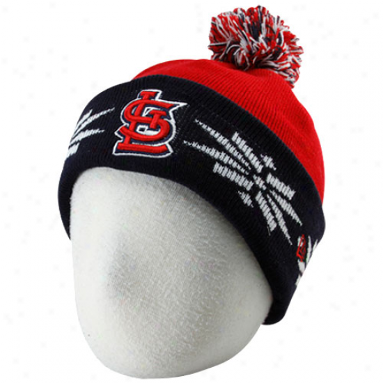 St. Louis Cardinals Cap : New Era Sf. Louis Cardinals Toddler Red-navy Blue Snow Kid Beanie