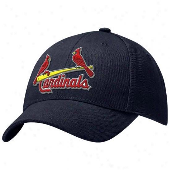 St. Louis Cardinals Cap : Nike St Louis Cardinals Navy Blue Swoosh Flex Fit Cap