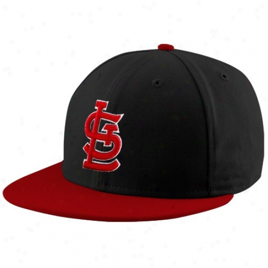St. Louis Cardinals Caps : New Era St. Louis Cardiinals Black-red Unite 59fifty Fitted Caps