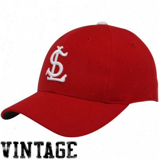 St. Louis Cardinals Caps : St. Louis Cardinals Red 1918 Throwback Cooperstown Fitted Caps
