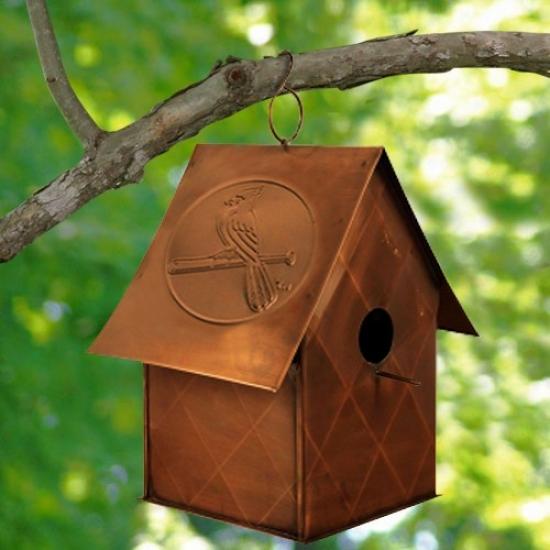 St. Louis Cardinals Copper Bird House