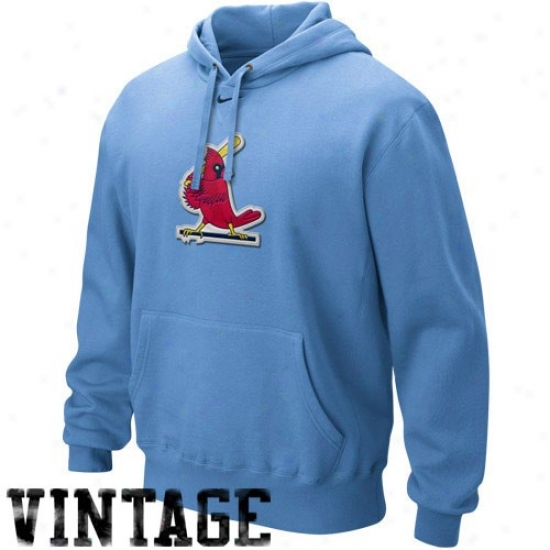 St. Louis Cardinals Fleece : Nike St. Louis Cardinals Light Blue Cooperstowb Fleece