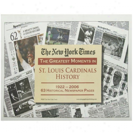 St. Louis Cardinals Greatest Moments Newspaper