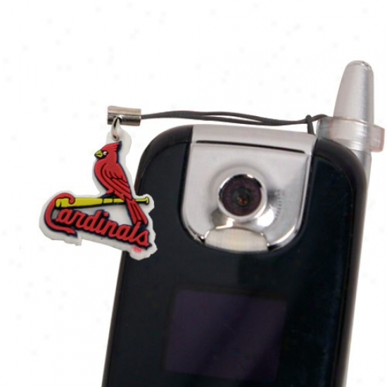 St Louis Cardinals Hanging Cell Phone Charm