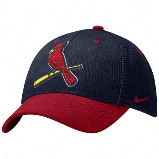 St. Louis Cardinals Hat : Nike St Louis Cardinals Navy Blue Wool Classic Adjustable Hat