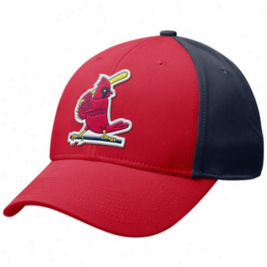 St. Louis Cardinals Hat : Nike St. Louis CardinalsR ed-navy Blue Cooperstown Tactile Swoosh Flex Cardinal's office