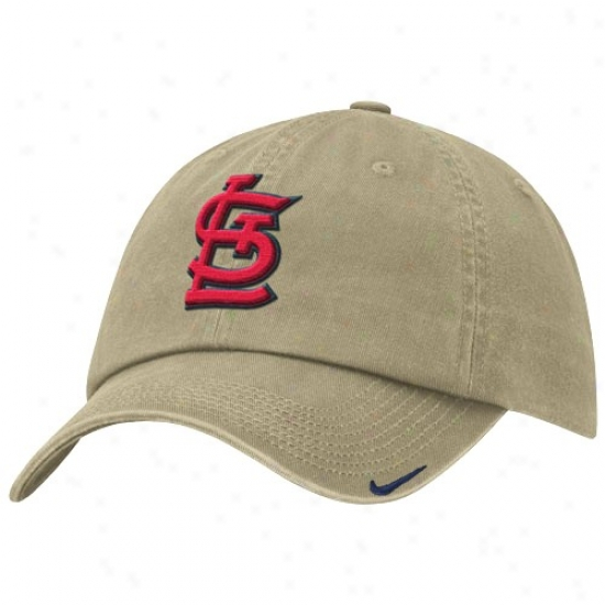 St. Louis Cardinals Hats : Nike St Louis Cardinals Khaki Stadium Adjustable Hats