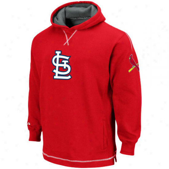 St. Louis Cardinals Hoody : Majestic St. Louis Cardinals Youth Red The Liberation Pullover Hoody