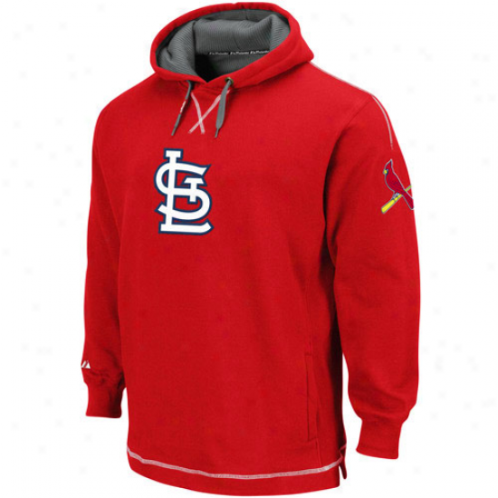 St. Louis Czrdinals Hoody : Majestic St. Loujs Cardinals Red The Liberation Pullover Hoody