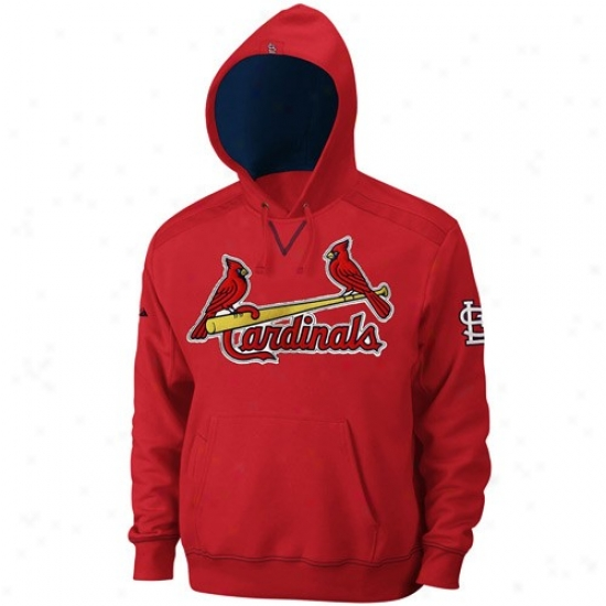 St. Louis Cardinals Hoodys : Majestic St. Louis Cardinals Red Conquest Hoodys