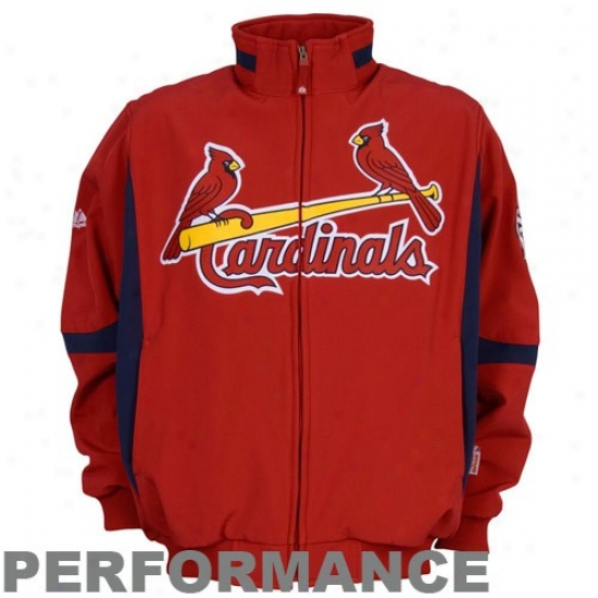 St. Louis Cardinals Jacket : Majes5ic St Louis Cardinals Red Therma Base Premier Elevation Performance Jacket