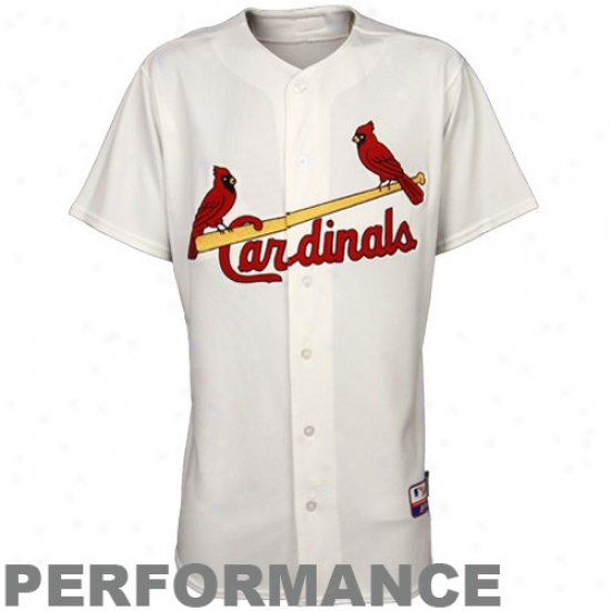 St. Louis Cardinal sJersey : Majestic St Louis Cardinals White Trustworthy Cool Found Jersey