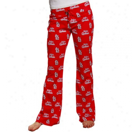 St. Louis Cardinals Ladies Red Genesis Pajama Pants
