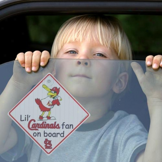 St. Louis Cardinals Lil' Fan Attached Board Car Sign