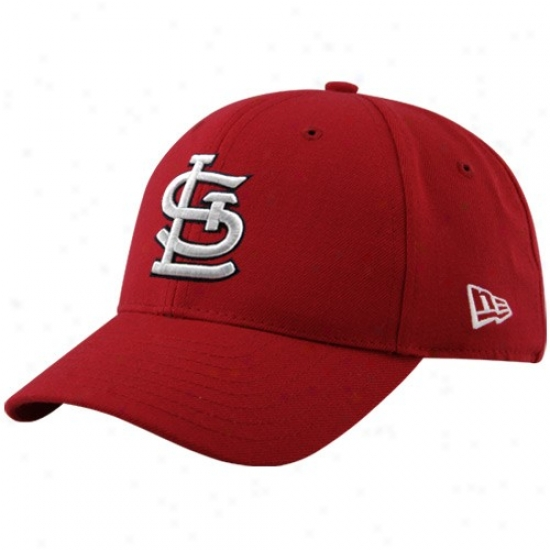 St. Louis Cardinals Merchandise: New Era St Louis Cardinals Red Pinch Hitter Adjustable Hat