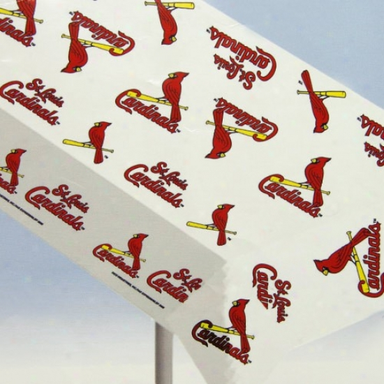 St. Louis Cardinals Mlb Team Logo Plastic Tablecloth